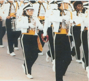 Prissy Lopez marching with the Mighty Brahma Band!